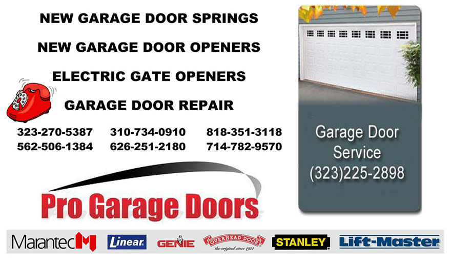 NEW GARAGE DOOR SPRINGS, NEW GARAGE DOOR OPENERS, ELECTRIC GATE OPENERS, GARAGE DOOR REPAIR